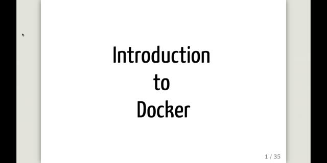 Introduction to Docker and containers