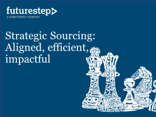 Strategic Sourcing: Aligned, efficient and impactful