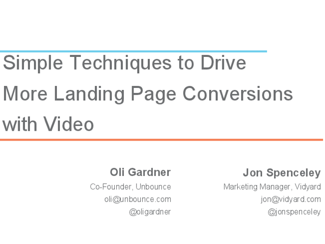 Simple Techniques to Drive more Landing Page Conversions with Video