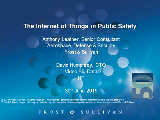 Internet of Things in Public Safety