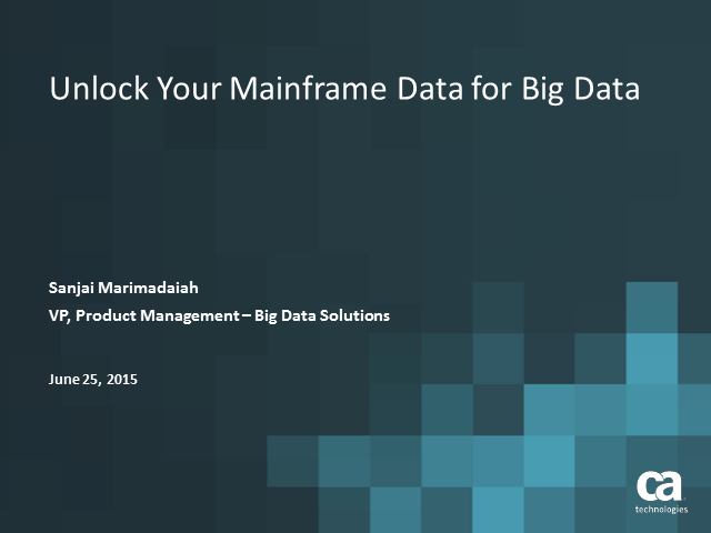 Unlock Your Mainframe Data for Big Data Solutions