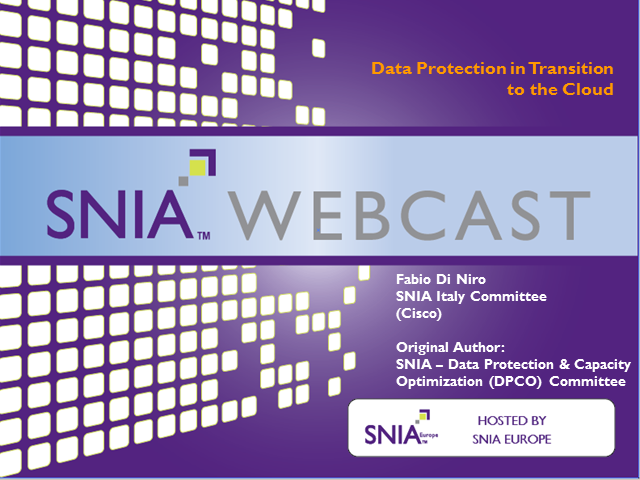 Data Protection in Transition to the Cloud