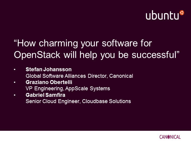 Webinar: How charming your software for OpenStack will help you be successful