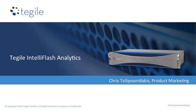 Tegile IntelliFlash Analytics