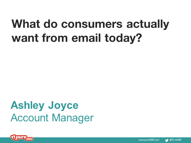 What do consumers actually want from email today?