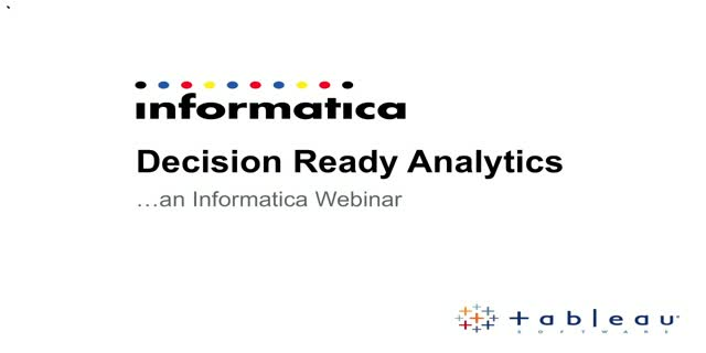 Accurate Analytics to Become Decision Ready in Financial Services A Live Demo
