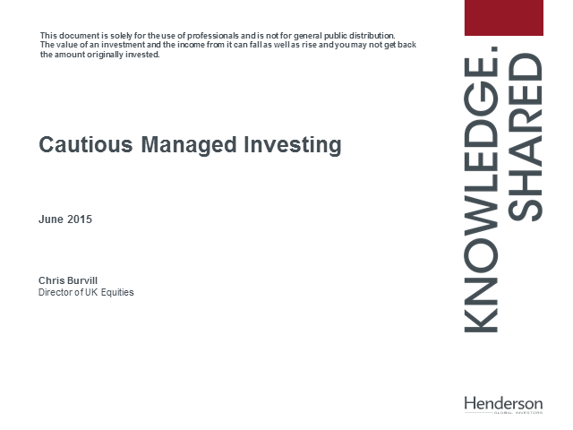 Henderson Cautious Managed Fund webcast