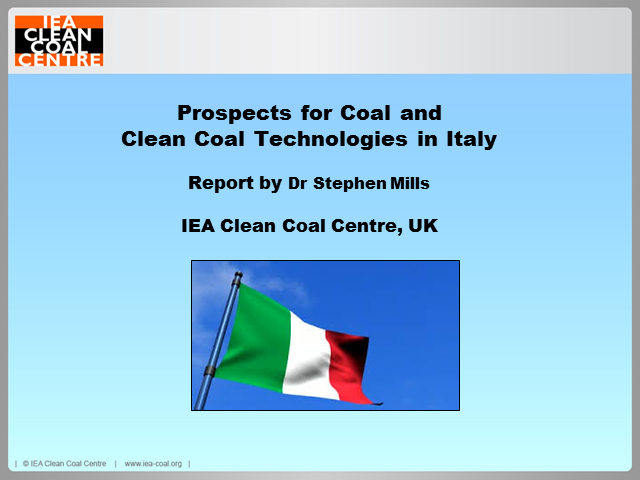Prospects for clean coal technologies in Italy