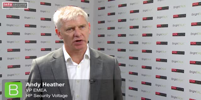 Infosecurity Europe 2015: Andy Heather, HP Security Voltage