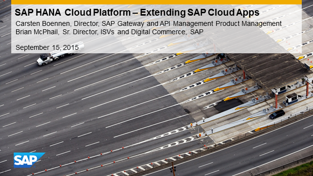 Business Opportunity Webinar: SAP HANA Cloud Platform API Management