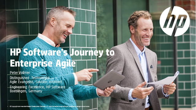 HP Software's Journey to Enterprise Agile