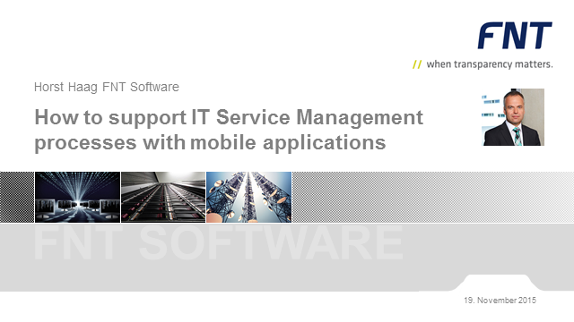 How to support ITSM processes with mobile applications