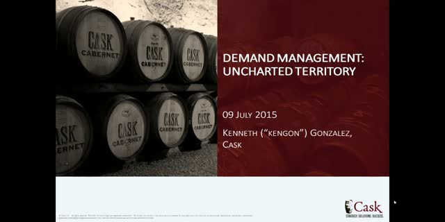 Demand Management: Uncharted Territory