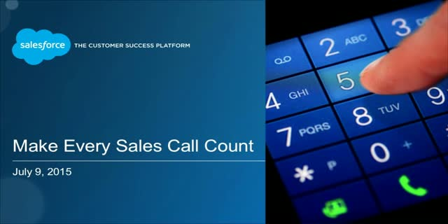 Make Every Sales Call Count