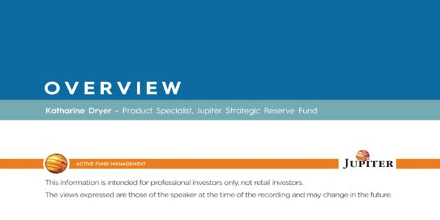 Overview - Jupiter Strategic Reserve Fund