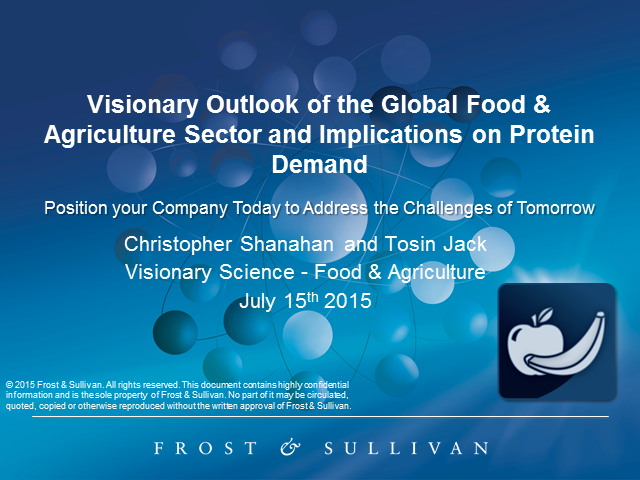 Visionary Outlook of the Global Food & Agriculture Sector