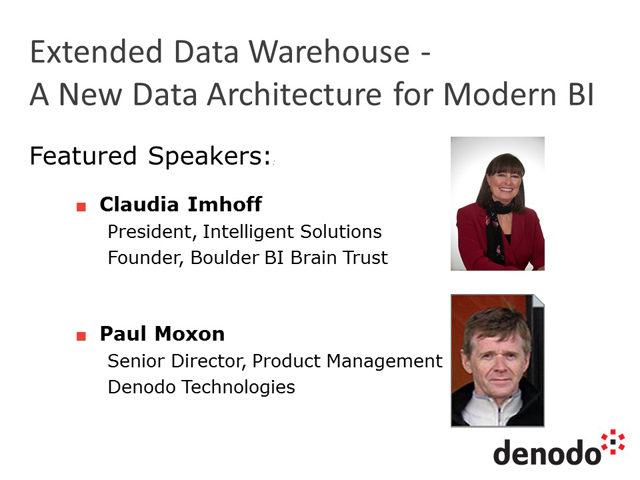 Extended Data Warehouse - A New Data Architecture for Modern BI