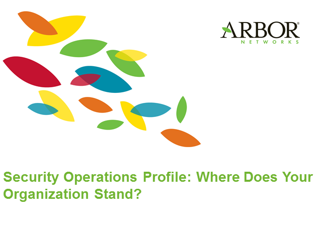 Security Operations Profile: Where does your organization stand?