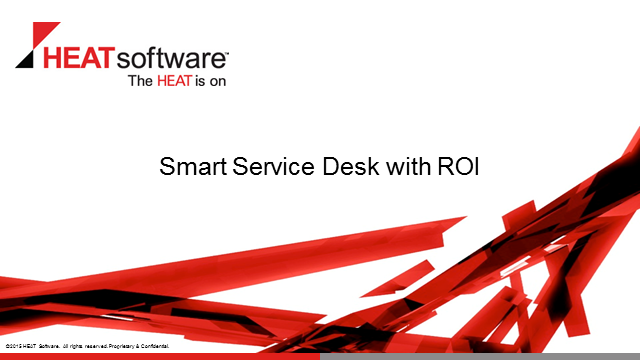 Smart Service Desk with an ROI