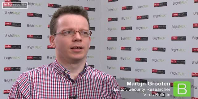 Infosecurity Europe 2015: Martijn Grooten, Virus Bulletin