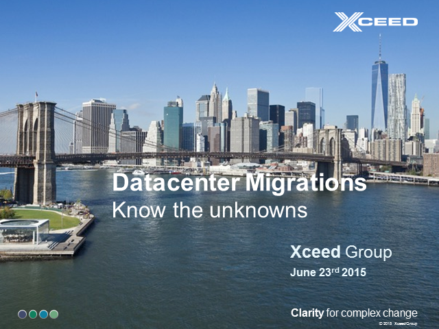 Predictable Datacenter Migrations - Knowing the unknowns