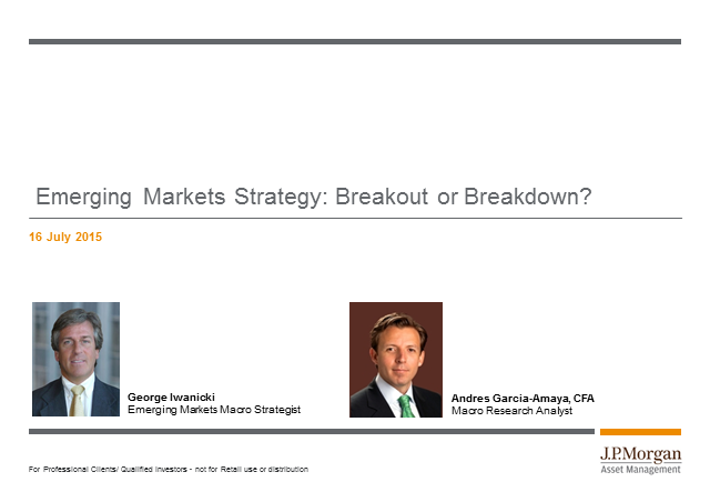 J.P. Morgan emerging market strategy quarterly review