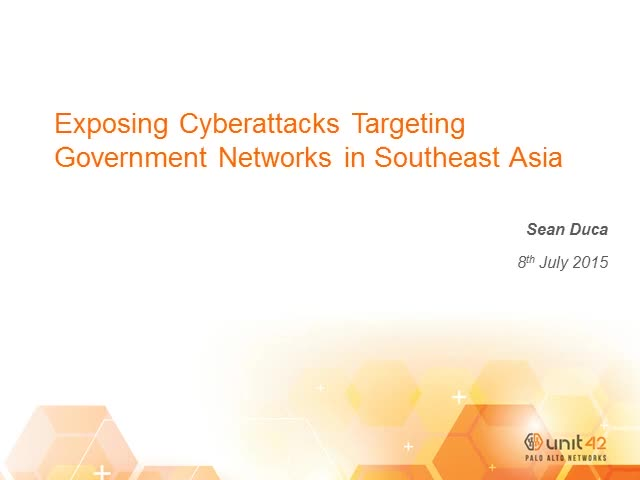 Exposing cyberattacks targeting government networks in Southeast Asia