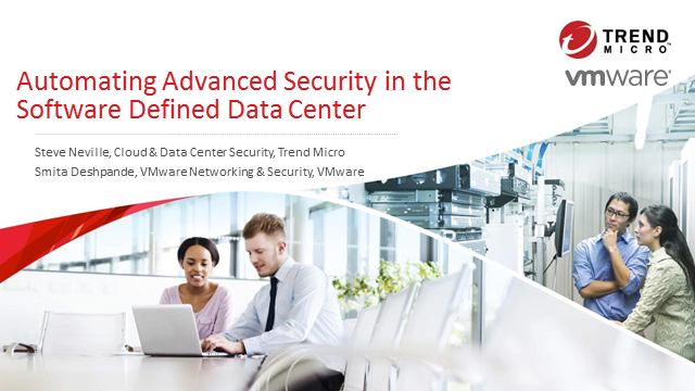 Automating Advanced Security in the Software Defined Data Center