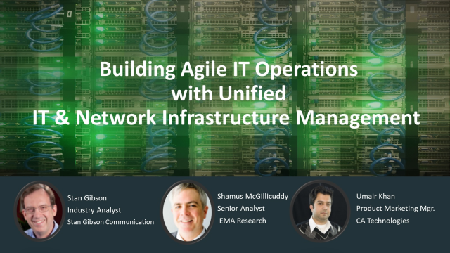 Building Agile IT Operations with Unified IT & Network Infrastructure Management