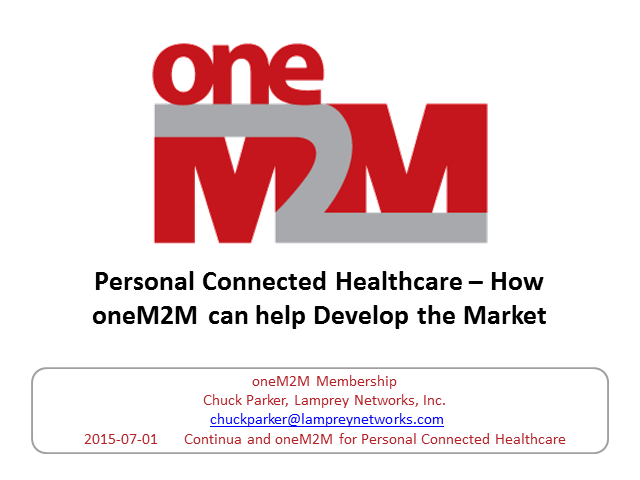 Personal Connected Healthcare – how oneM2M can help develop the market