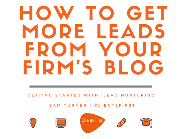 How to get more leads from your firm's blog