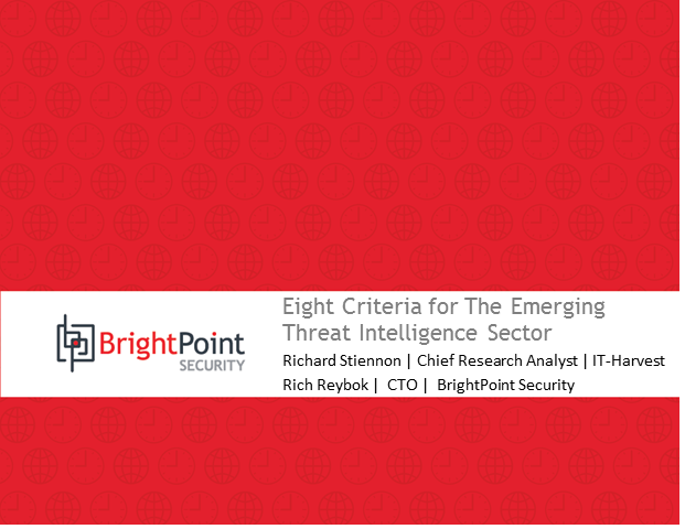 Eight Criteria for The Emerging Threat Intelligence Sector