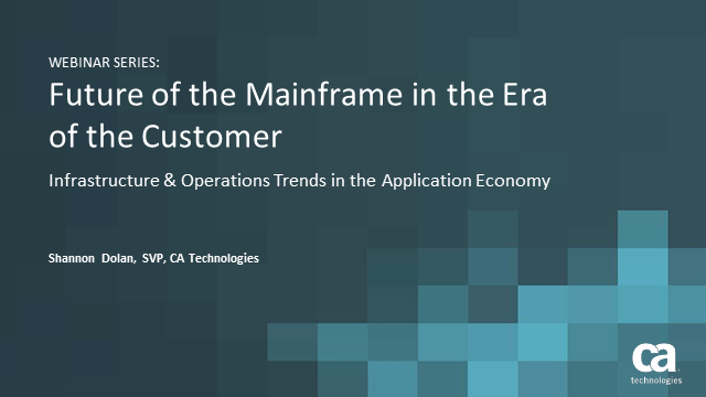 IT Infrastructure & Operations Trends in the Application Economy