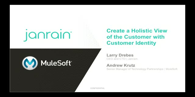 Create a Holistic View of your Customer With Customer Identity