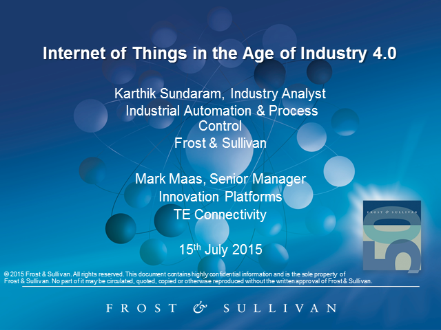 Internet of Things in the Age of Industry 4.0