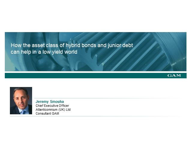 How hybrid  bonds and junior debt can help in a low yield world