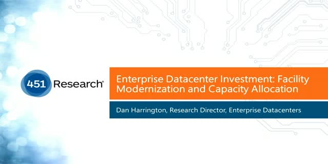 Enterprise Datacenter Investment: Facility Modernization and Capacity Allocation