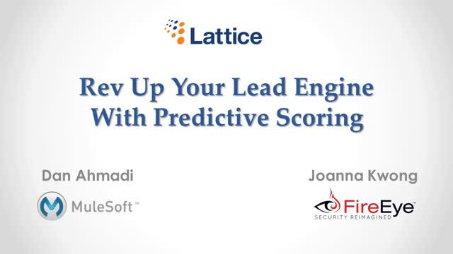 Rev Up Your Lead Engine With Predictive Scoring