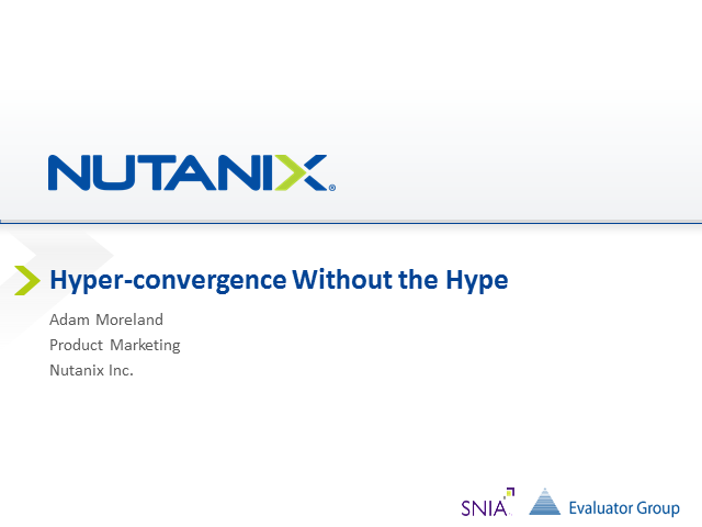 Hyperconvergence without the Hype