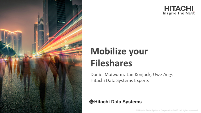 Mobilize your Fileshares
