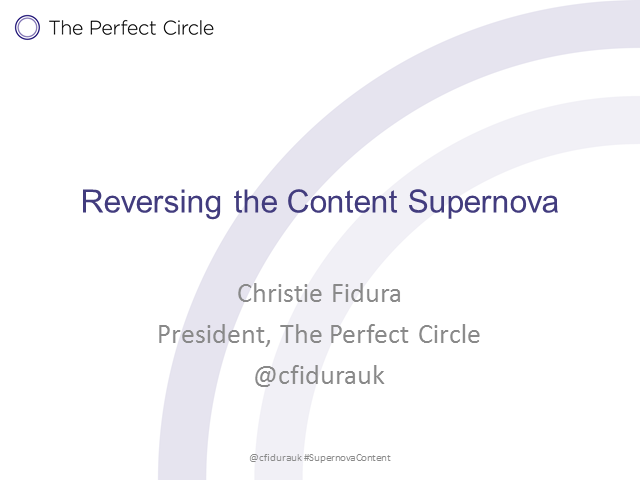 Reversing the Content Supernova