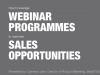 How to Leverage Webinar Programmes to Maximise Sales Opportunities - EMEA