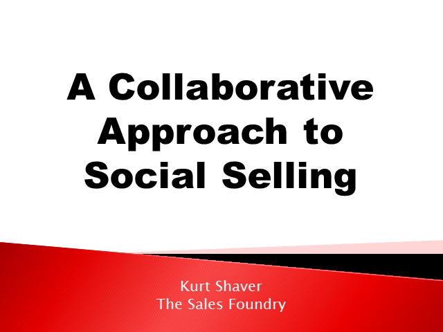 A Collaborative Approach to Social Selling