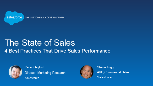 The State of Sales - Four Key Best Practices That Drive Sales Performance