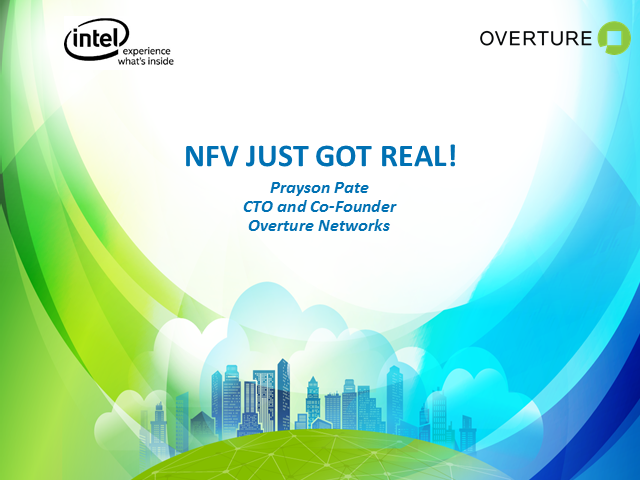NFV Just Got Real!