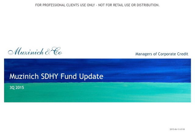 Muzinich ShortDurationHighYield Fund