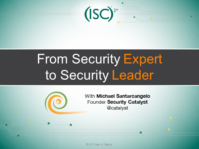 Career Sherpa: From Security Expert to Security Leader