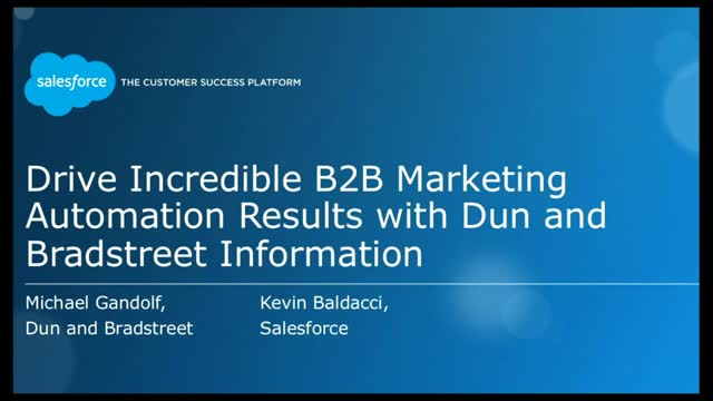 Drive Amazing B2B Marketing Automation Results with Dun & Bradstreet Information