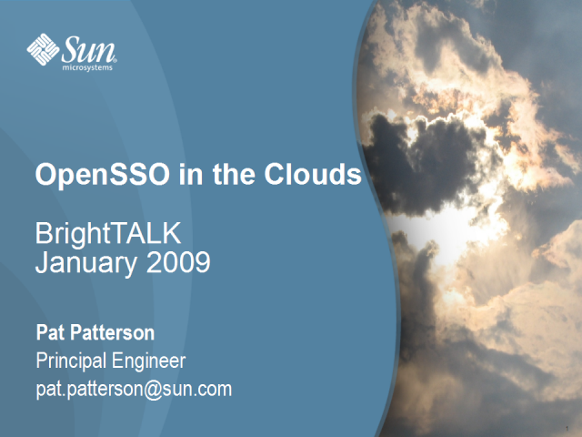 OpenSSO in the Clouds