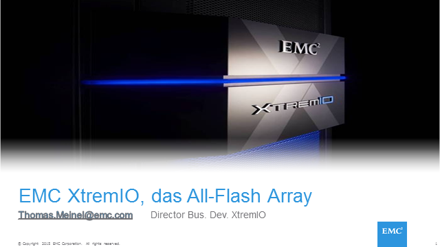XtremIO, das All-Flash-Array von EMC (Überblick)
